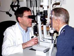 Prof. Blumenthal examining a patient