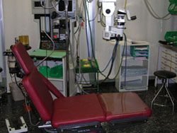 Operating room bed- eye surgery