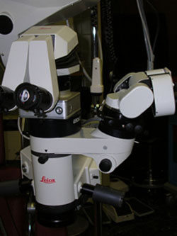 Operating microscope- close-up